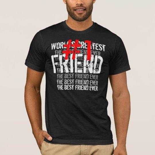 World's Greatest FRIEND Black Red White T-Shirt