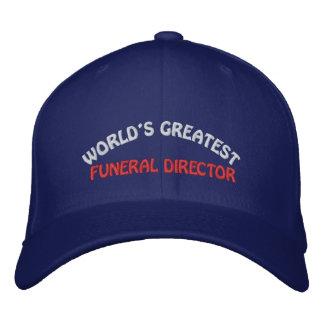 WORLD'S GREATEST, FUNERAL DIRECTOR BASEBALL CAP