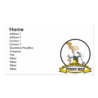 WORLDS GREATEST FUNNY MAN CARTOON Double-Sided STANDARD BUSINESS CARDS (Pack OF 100)