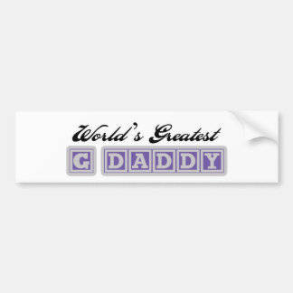 World's Greatest G Daddy Bumper Sticker