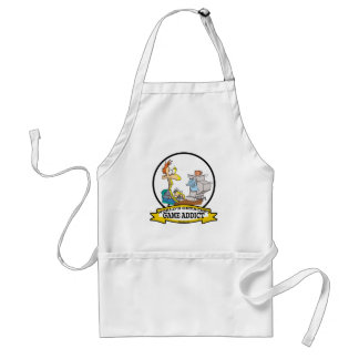 WORLDS GREATEST GAME ADDICT CARTOON ADULT APRON