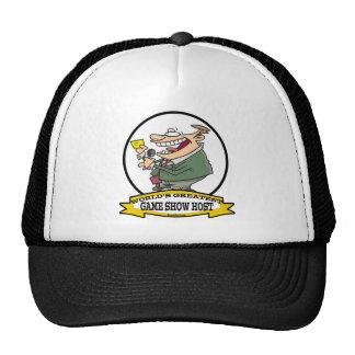 WORLDS GREATEST GAME SHOW HOST CARTOON TRUCKER HATS