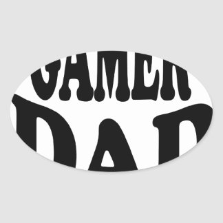WORLD'S GREATEST GAMER DAD SHIRT.png Oval Sticker
