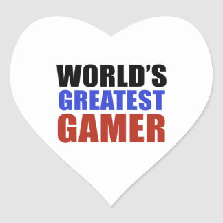 World's greatest GAMER Heart Sticker