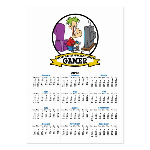 WORLDS GREATEST GAMER II CARTOON LARGE BUSINESS CARDS (Pack OF 100)