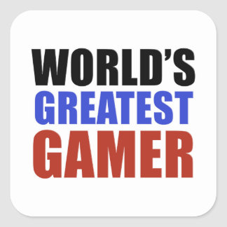 World's greatest GAMER Square Sticker