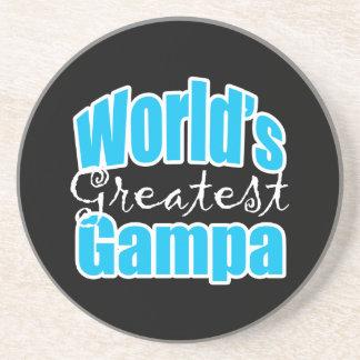 Worlds Greatest Gampa Beverage Coaster