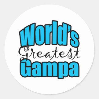 Worlds Greatest Gampa Classic Round Sticker
