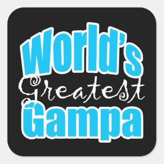 Worlds Greatest Gampa Square Sticker