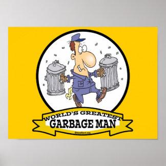 WORLDS GREATEST GARBAGE MAN CARTOON POSTER