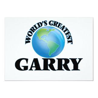 World's Greatest Garry 5x7 Paper Invitation Card
