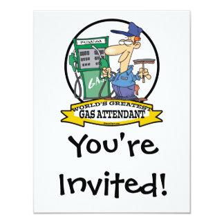 WORLDS GREATEST GAS ATTENDANT II CARTOON CARD