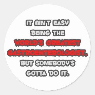World's Greatest Gastroenterologist Joke Classic Round Sticker