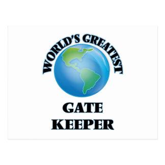 World's Greatest Gate Keeper Postcard