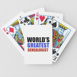 World's greatest GENEALOGIST Bicycle Playing Cards
