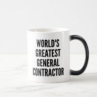 Worlds Greatest General Contractor Magic Mug
