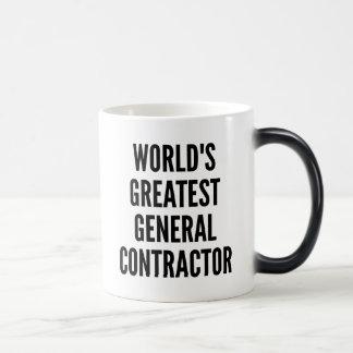 Worlds Greatest General Contractor Magic Mug