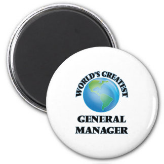 World's Greatest General Manager Refrigerator Magnet