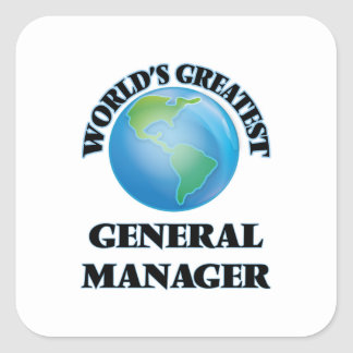 World's Greatest General Manager Square Sticker