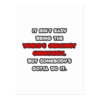 World's Greatest Geneticist Joke Postcard