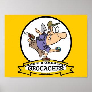 WORLDS GREATEST GEOCACHER MEN CARTOON POSTERS