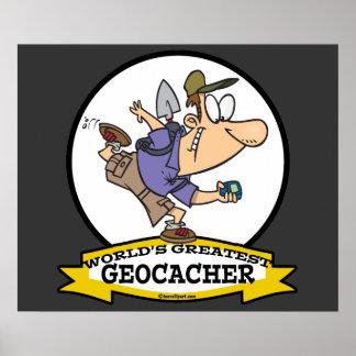 WORLDS GREATEST GEOCACHER MEN CARTOON POSTER