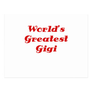 Worlds Greatest Gigi Postcards