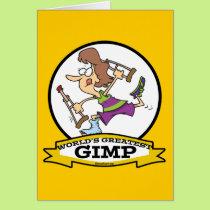 WORLDS GREATEST GIMP WOMEN CARTOON CARD