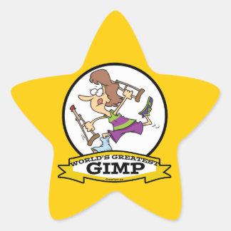 WORLDS GREATEST GIMP WOMEN CARTOON STAR STICKER