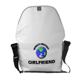World's Greatest Girlfriend Courier Bags