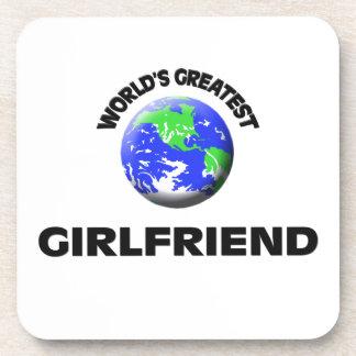 World's Greatest Girlfriend Drink Coaster