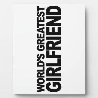 World's Greatest Girlfriend Plaque