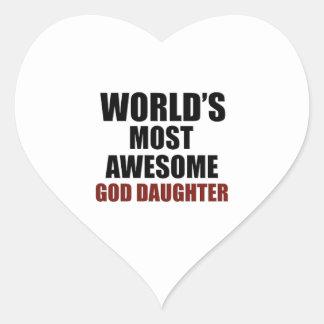 World's Greatest GOD-DAUGHTER Heart Sticker