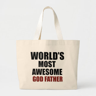 World's Greatest GOD Father Large Tote Bag