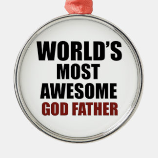World's Greatest GOD Father Metal Ornament
