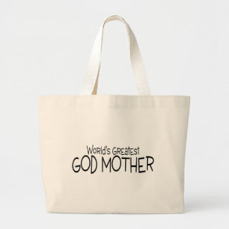 Worlds Greatest God Mother Tote Bags