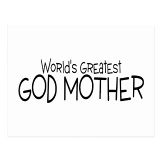 Worlds Greatest God Mother Postcard
