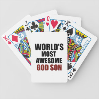 World's Greatest GOD Son Bicycle Playing Cards