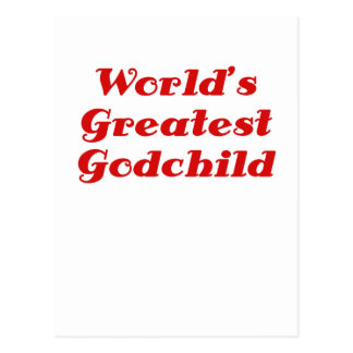 Worlds Greatest Godchild Postcard