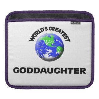 World's Greatest Goddaughter iPad Sleeves