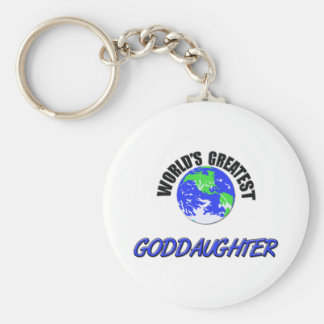 World's Greatest Goddaughter Keychain