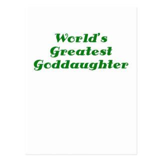 Worlds Greatest Goddaughter Postcards