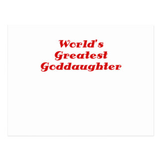 Worlds Greatest Goddaughter Post Cards
