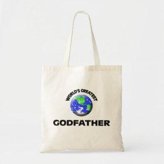 World's Greatest Godfather Canvas Bag