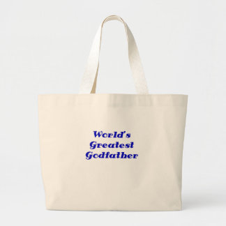 Worlds Greatest Godfather Canvas Bags