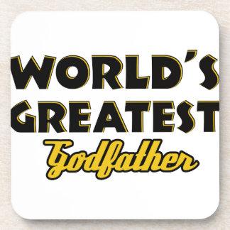 World's greatest Godfather Beverage Coaster