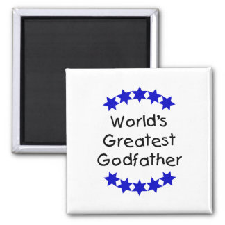 World's Greatest Godfather (dk. blue stars) Magnets