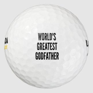 Worlds Greatest Godfather Golf Balls