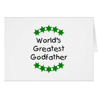 World's Greatest Godfather (green stars) Card