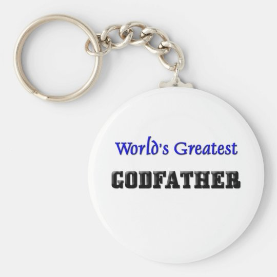 World's Greatest Godfather Keychain